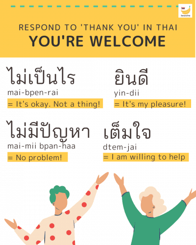 you're welcome in Thai